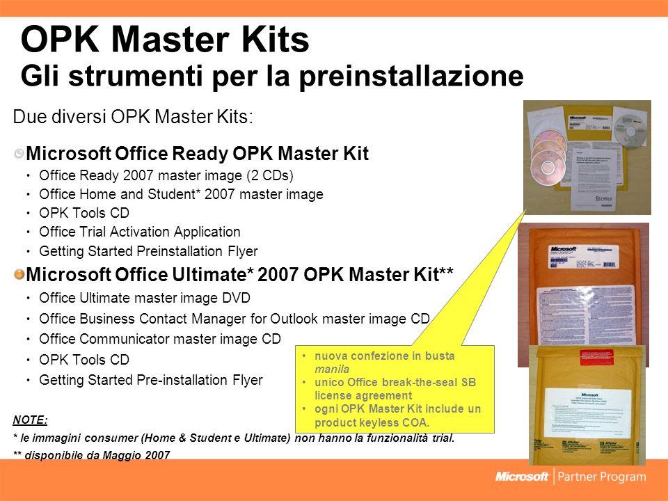 OPK Master Kits Gli strumenti per la preinstallazione