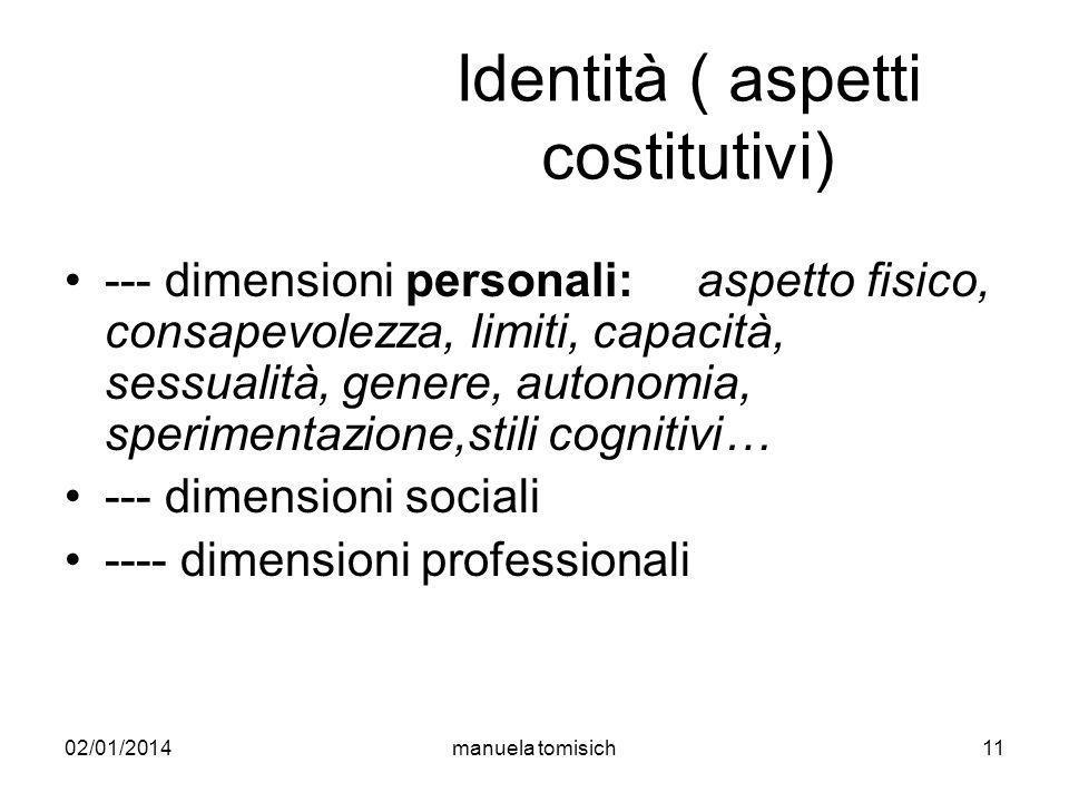 Identità ( aspetti costitutivi)