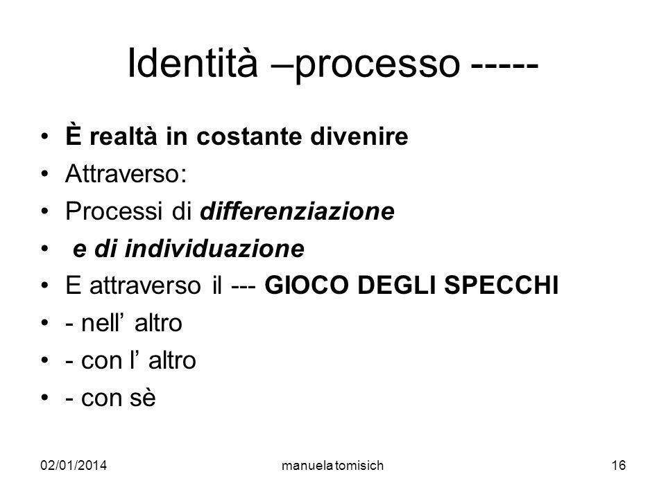 Identità –processo -----