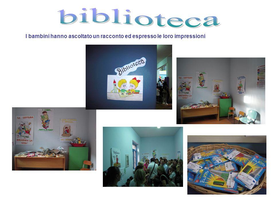 biblioteca I bambini hanno ascoltato un racconto ed espresso le loro impressioni