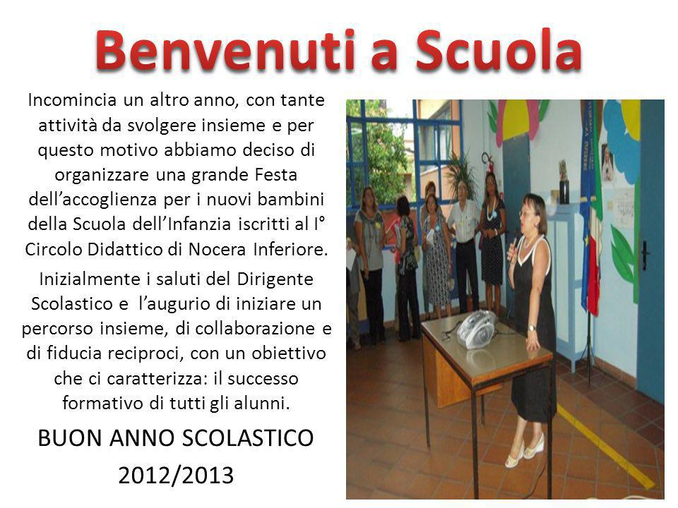 Benvenuti a Scuola BUON ANNO SCOLASTICO 2012/2013