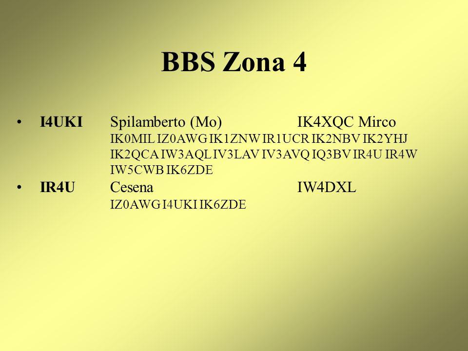 BBS Zona 4 I4UKI Spilamberto (Mo) IK4XQC Mirco IR4U Cesena IW4DXL