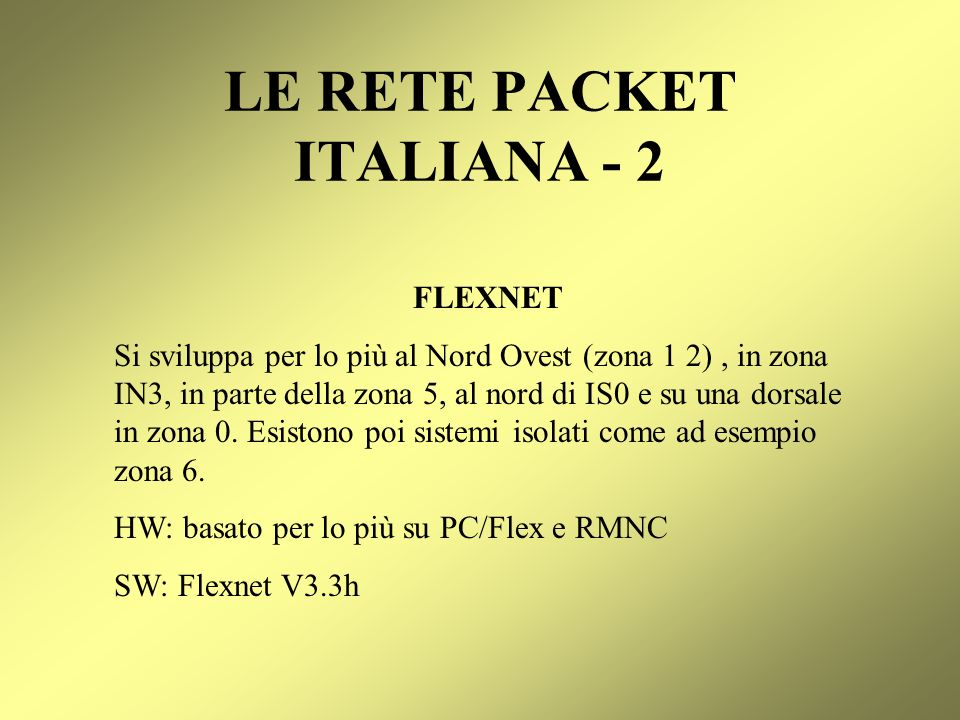 LE RETE PACKET ITALIANA - 2