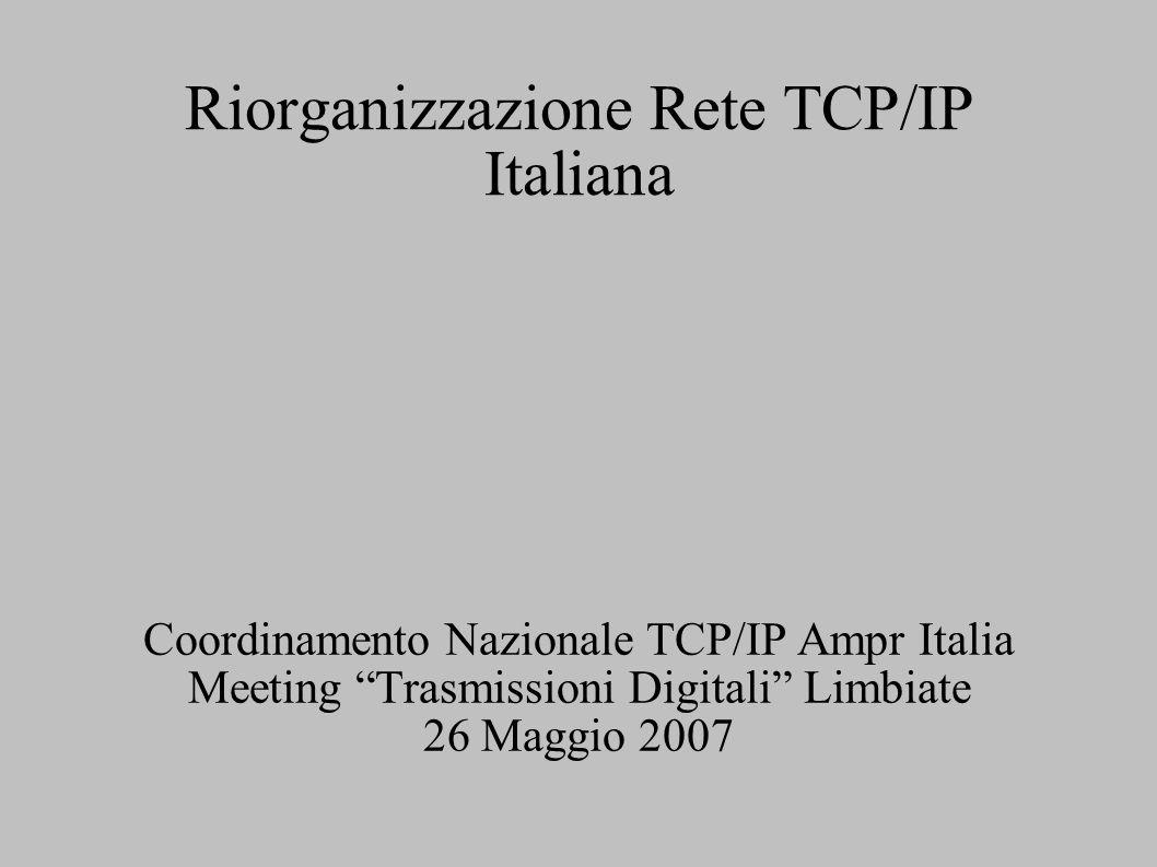 Riorganizzazione Rete TCP/IP Italiana