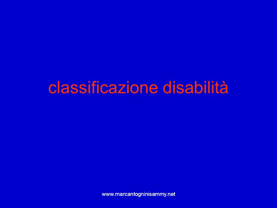 classificazione disabilità