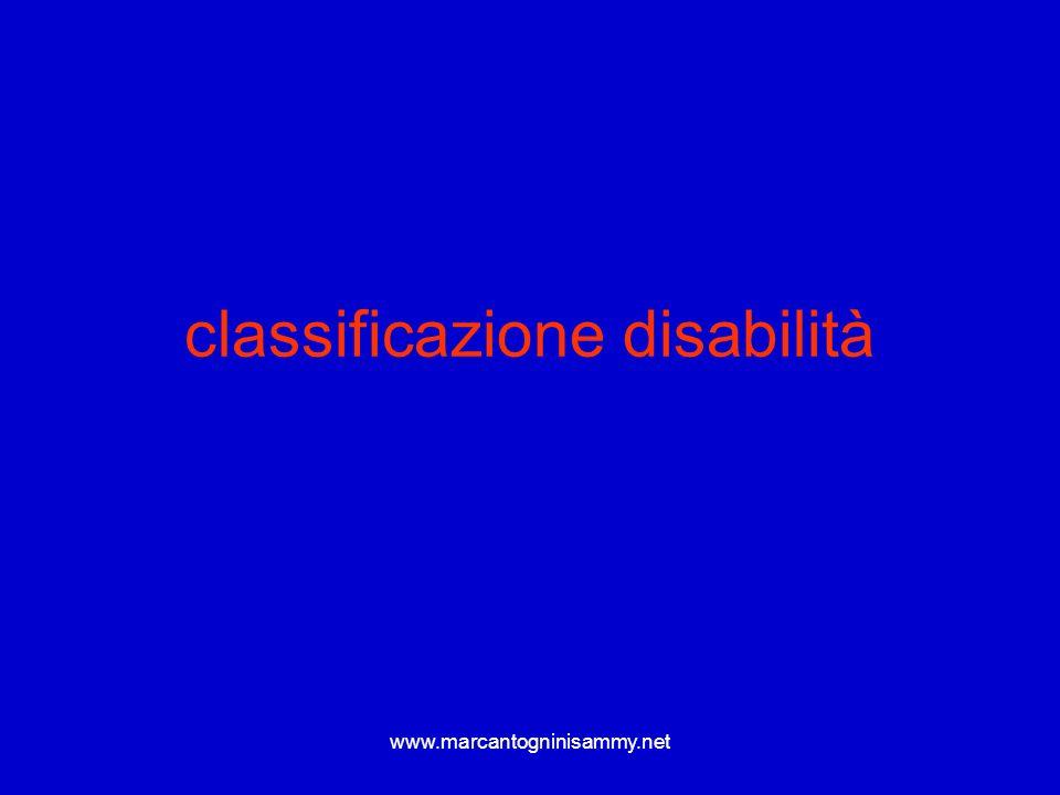 classificazione disabilità