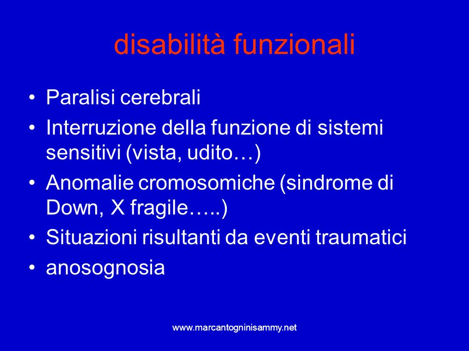 disabilità funzionali