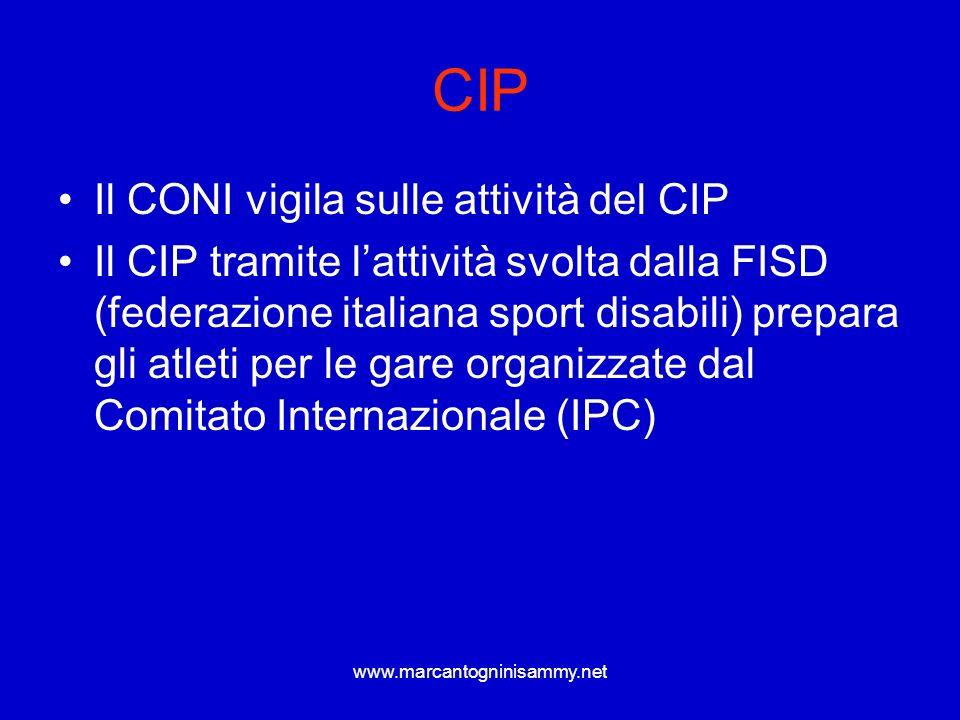 CIP Il CONI vigila sulle attività del CIP