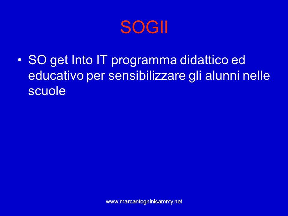 SOGII SO get Into IT programma didattico ed educativo per sensibilizzare gli alunni nelle scuole.