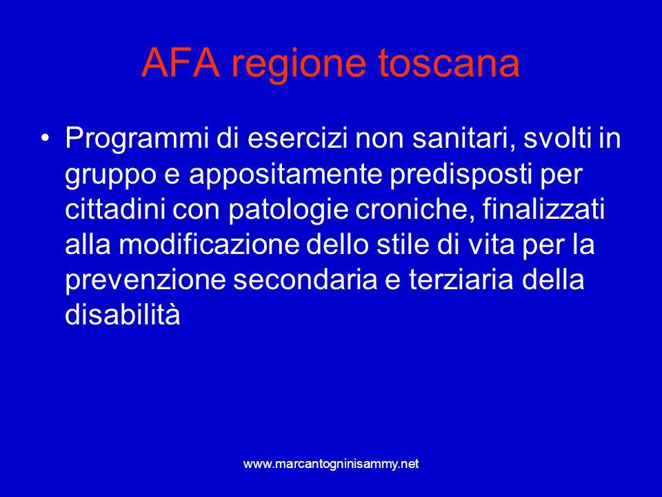 AFA regione toscana