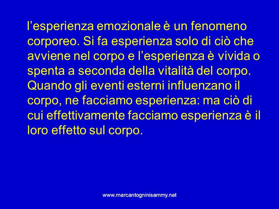 l'esperienza emozionale è un fenomeno corporeo