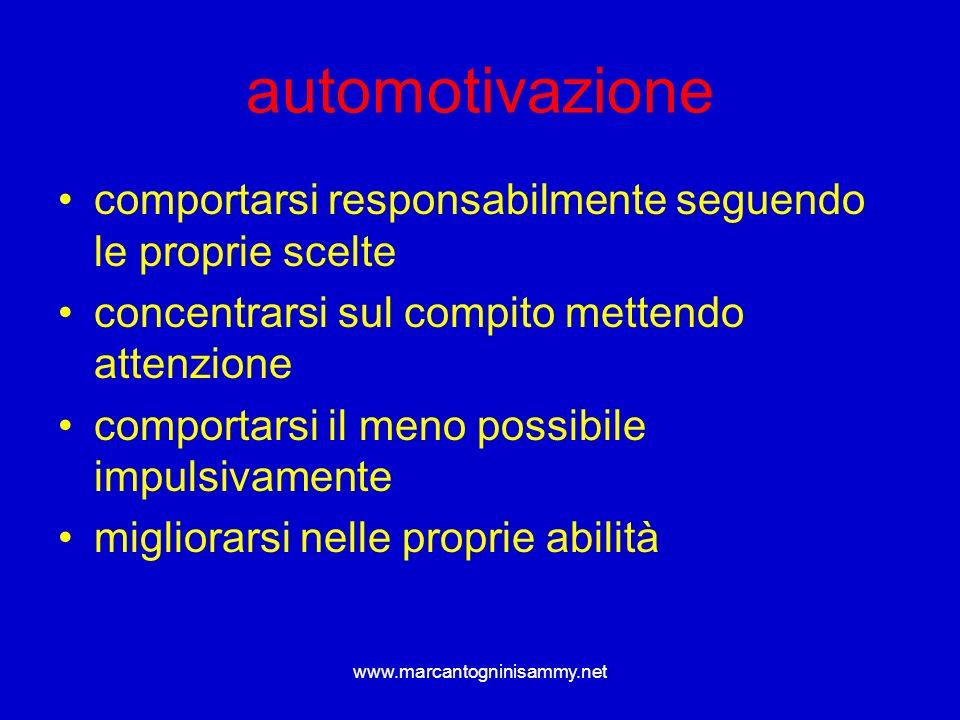 automotivazionecomportarsi responsabilmente seguendo le proprie scelte. concentrarsi sul compito mettendo attenzione.