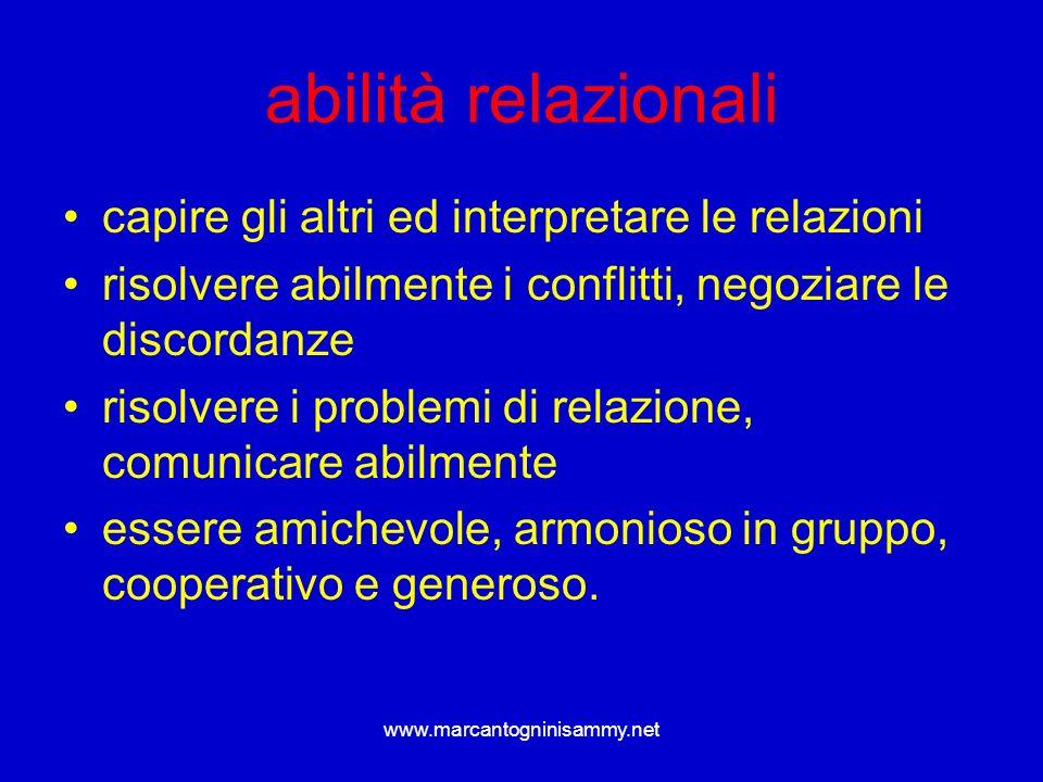 abilità relazionali capire gli altri ed interpretare le relazioni