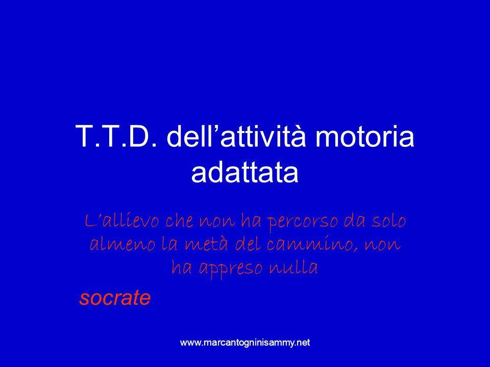 T.T.D. dell'attività motoria adattata
