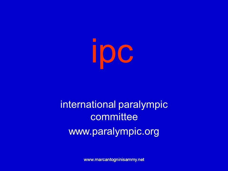 international paralympic committee www.paralympic.org