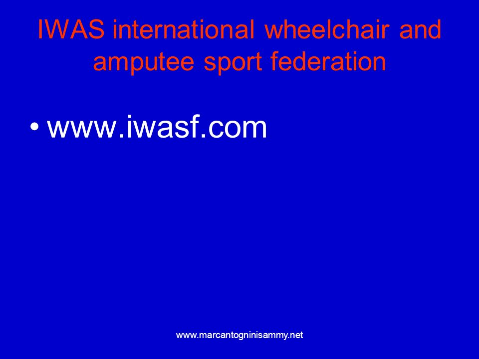 IWAS international wheelchair and amputee sport federation