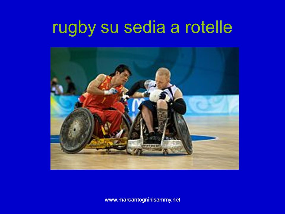 rugby su sedia a rotelle