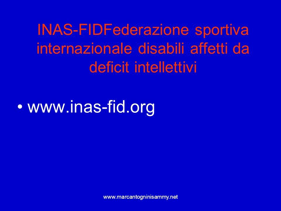 INAS-FIDFederazione sportiva internazionale disabili affetti da deficit intellettivi