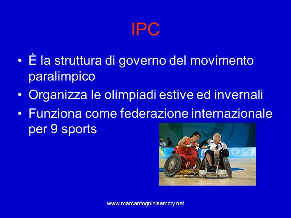 IPC È la struttura di governo del movimento paralimpico