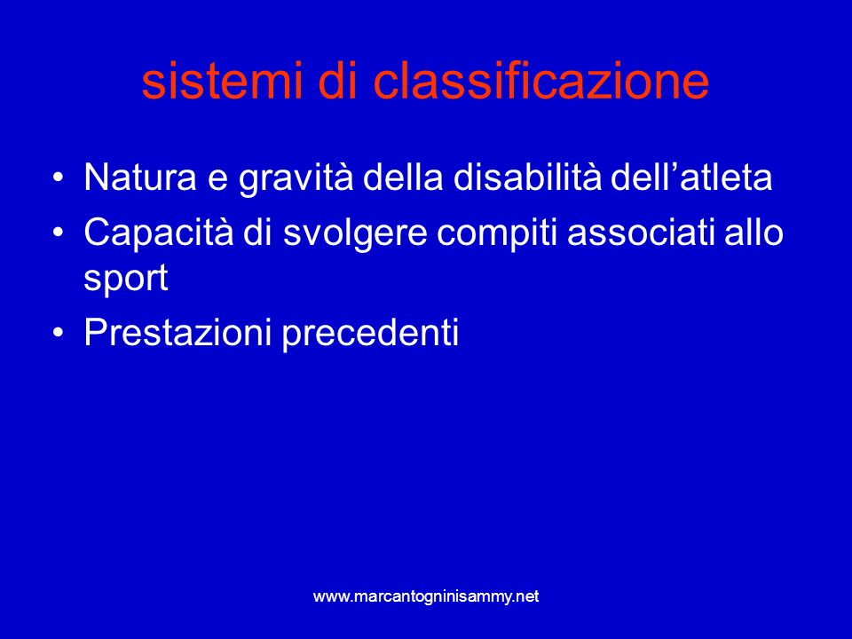 sistemi di classificazione