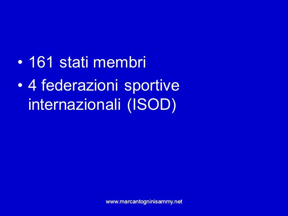 4 federazioni sportive internazionali (ISOD)