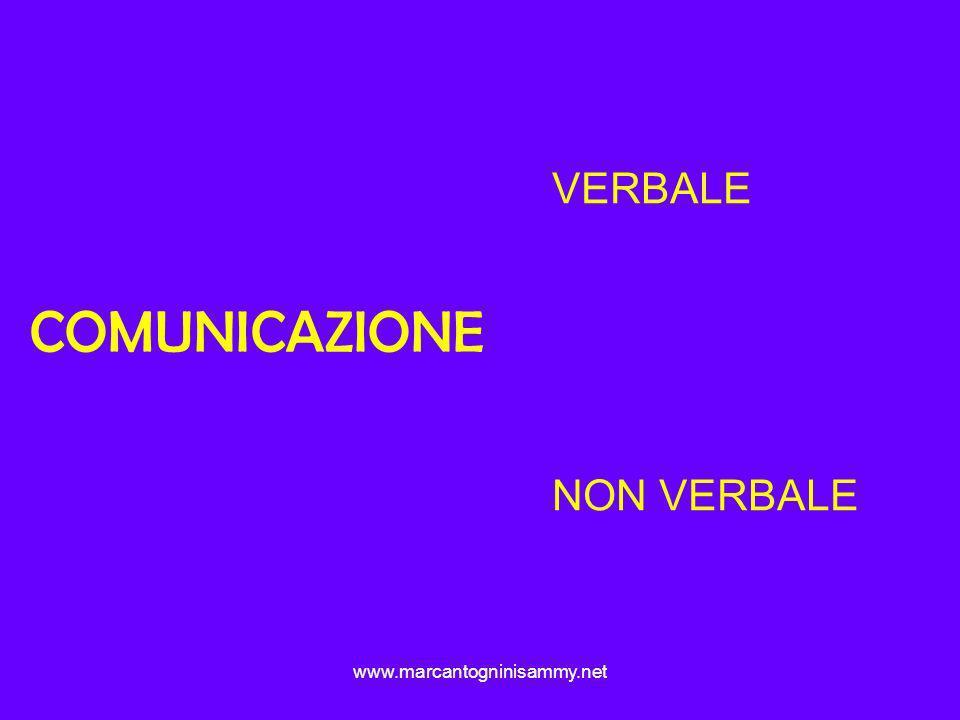VERBALE NON VERBALE COMUNICAZIONE www.marcantogninisammy.net