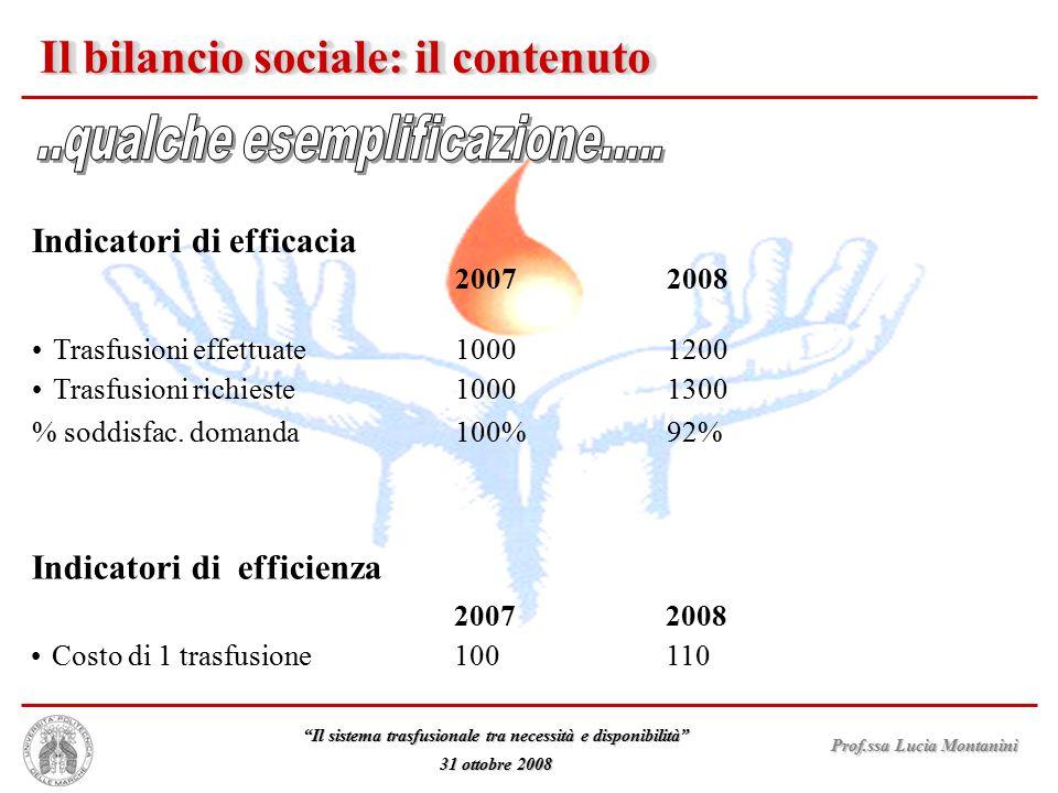 Il bilancio sociale: il contenuto