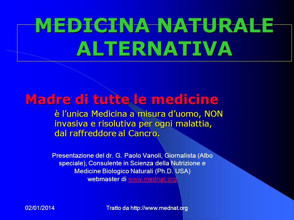 MEDICINA NATURALE ALTERNATIVA