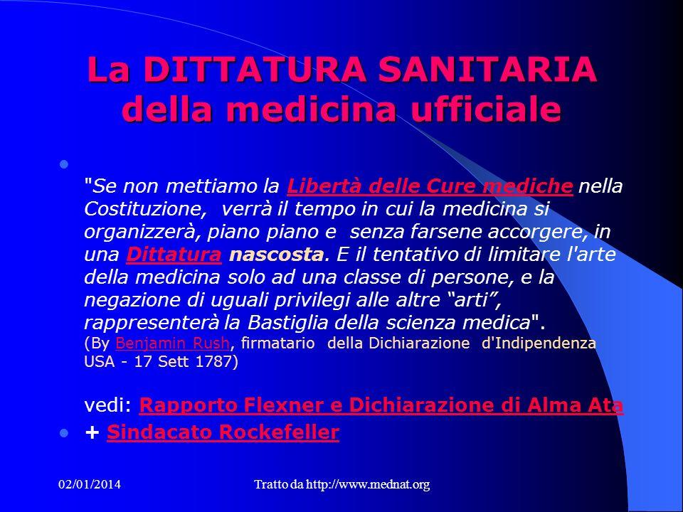 La DITTATURA SANITARIA della medicina ufficiale