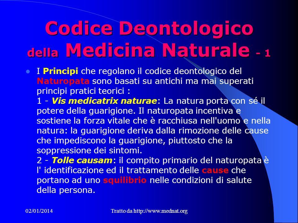 Codice Deontologico della Medicina Naturale - 1