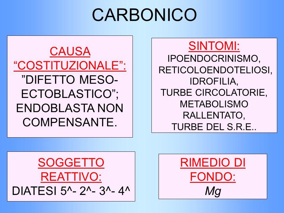 SOGGETTO REATTIVO: DIATESI 5^- 2^- 3^- 4^