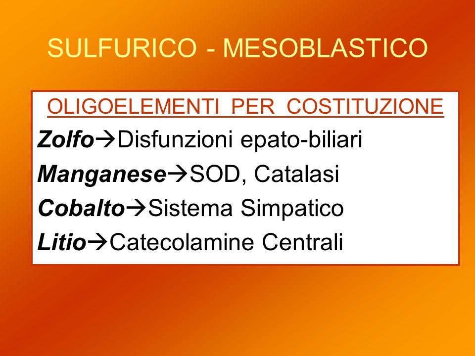 SULFURICO - MESOBLASTICO