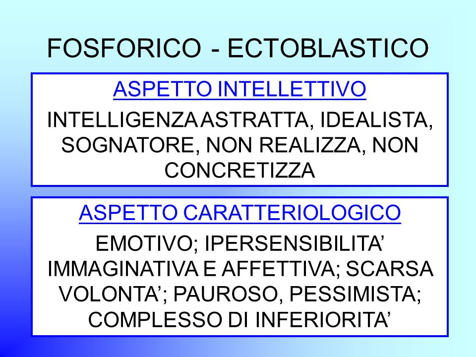 FOSFORICO - ECTOBLASTICO