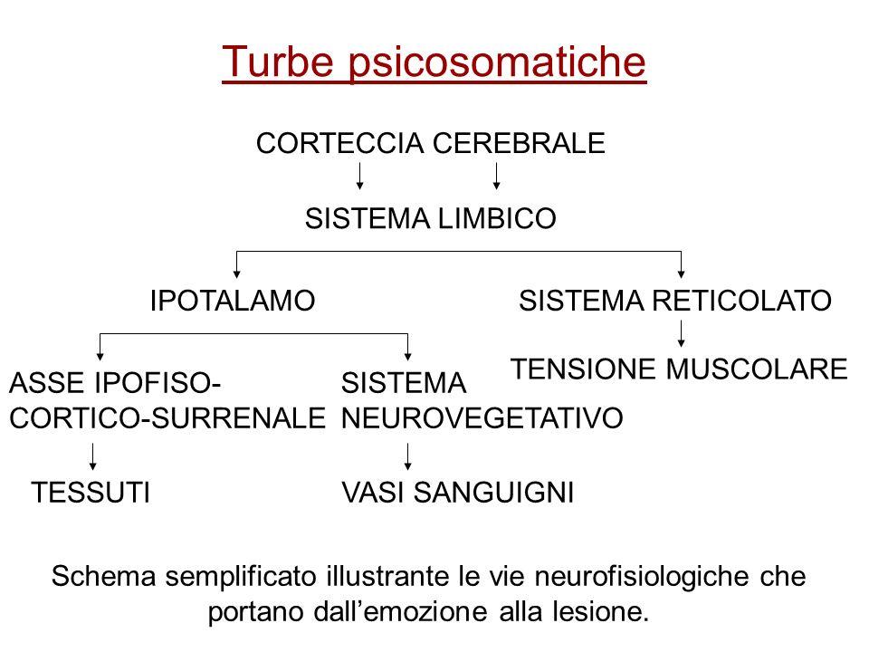 Turbe psicosomatiche CORTECCIA CEREBRALE SISTEMA LIMBICO IPOTALAMO