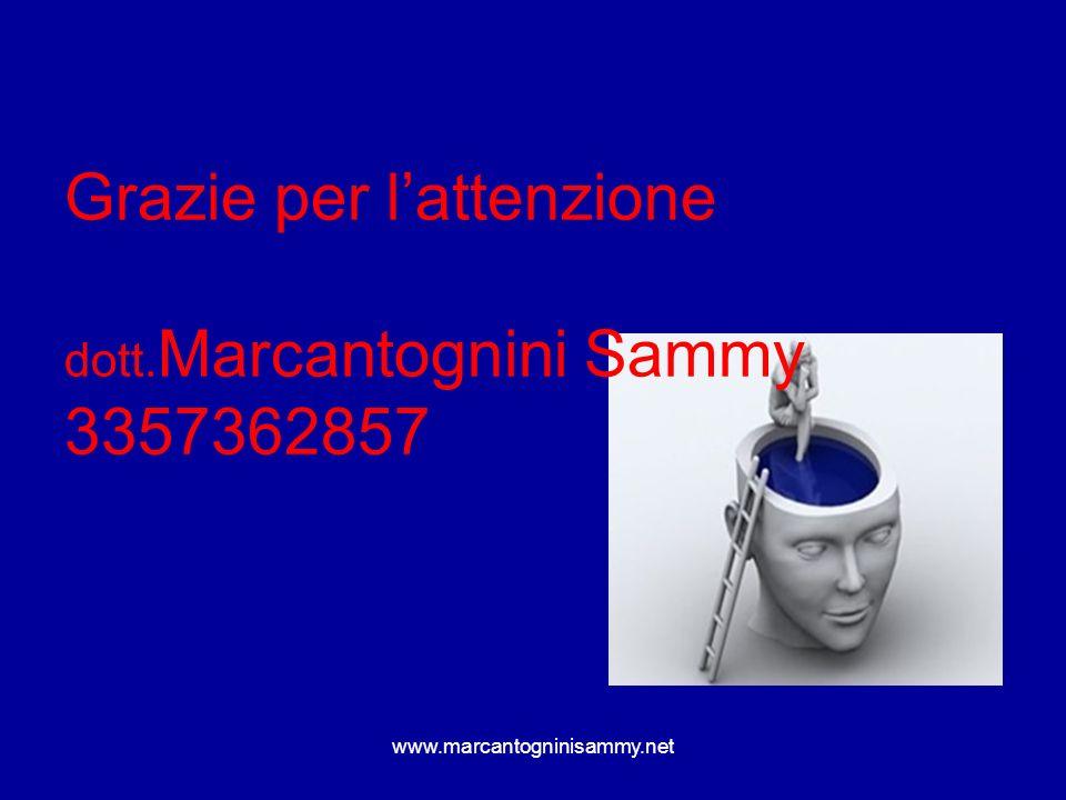 Grazie per l'attenzione dott.Marcantognini Sammy 3357362857