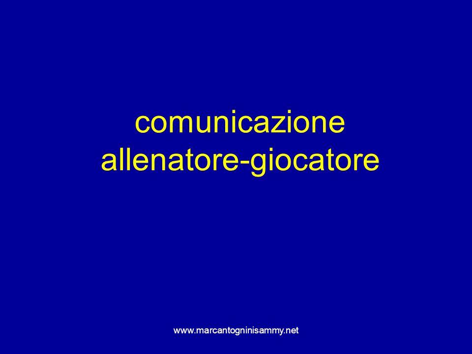 comunicazione allenatore-giocatore