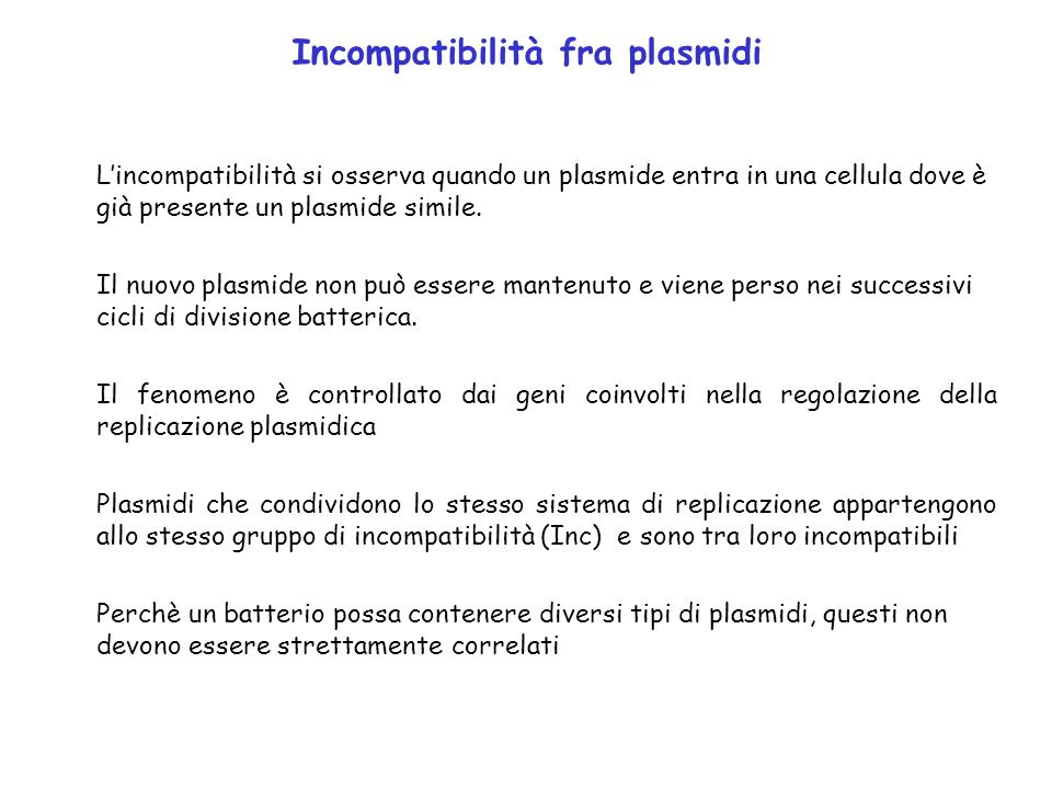 Incompatibilità fra plasmidi