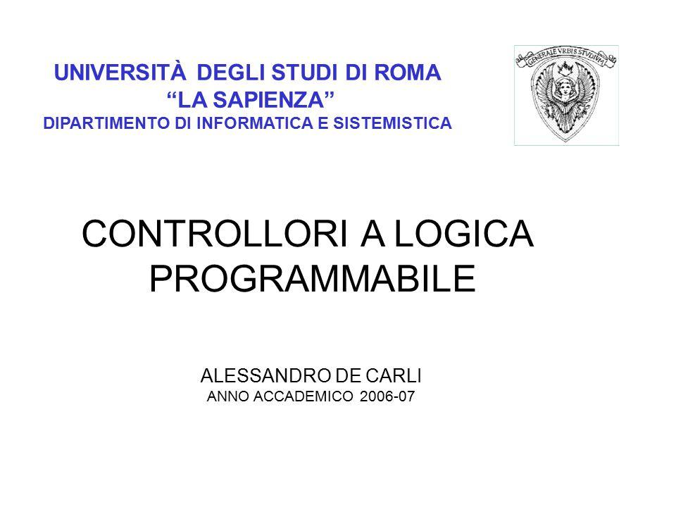 CONTROLLORI A LOGICA PROGRAMMABILE