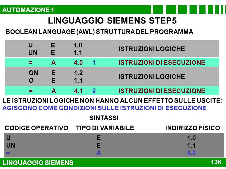 LINGUAGGIO SIEMENS STEP5