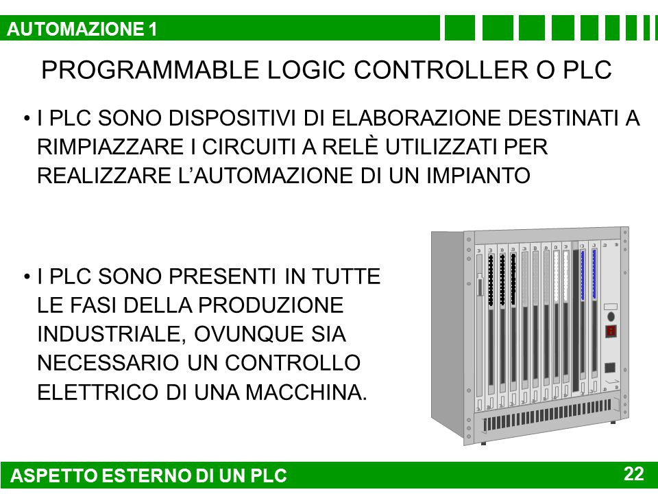 PROGRAMMABLE LOGIC CONTROLLER O PLC