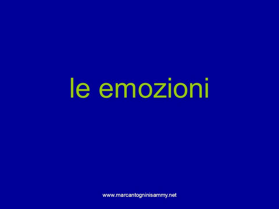 le emozioni www.marcantogninisammy.net