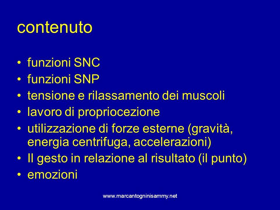 contenuto funzioni SNC funzioni SNP