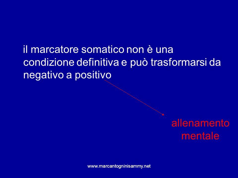 il marcatore somatico non è una condizione definitiva e può trasformarsi da negativo a positivo