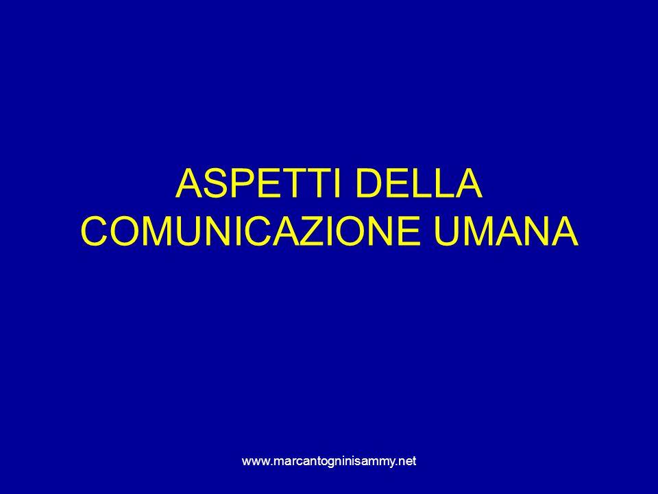 ASPETTI DELLA COMUNICAZIONE UMANA