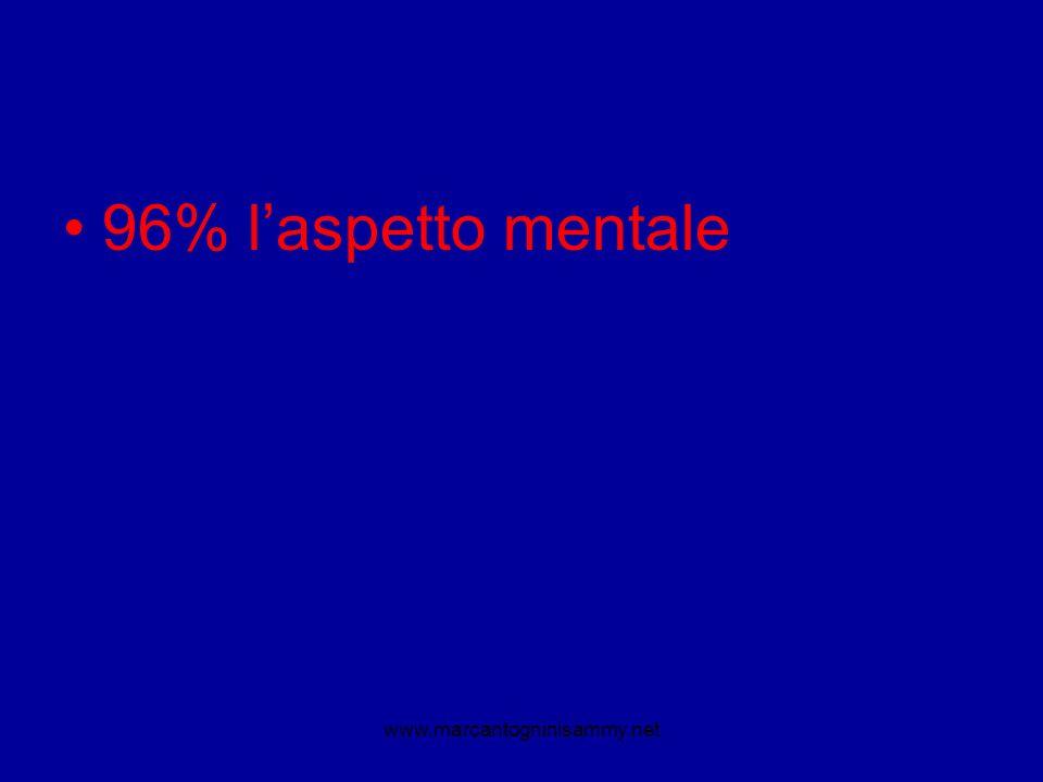 96% l'aspetto mentale www.marcantogninisammy.net