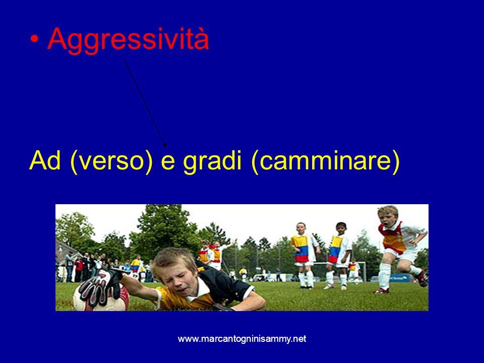 Aggressività Ad (verso) e gradi (camminare) www.marcantogninisammy.net