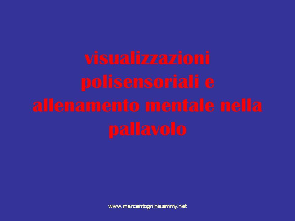 visualizzazioni polisensoriali e allenamento mentale nella pallavolo