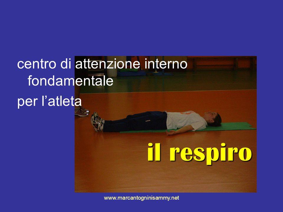 centro di attenzione interno fondamentale per l'atleta il respiro