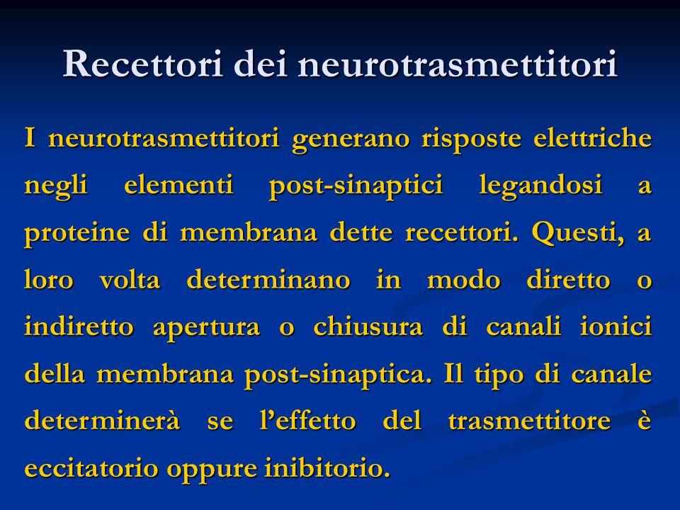 Recettori dei neurotrasmettitori