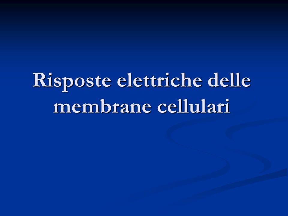 Risposte elettriche delle membrane cellulari